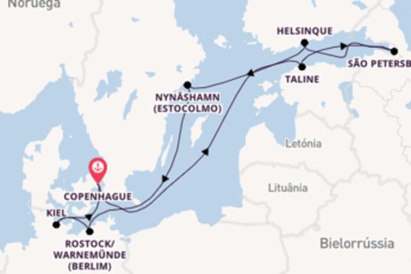 Grandioso cruzeiro de 11 dias com o Nieuw Statendam