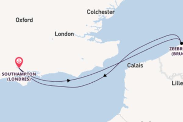 Croisière de 4 jours depuis Southampton (Londres) avec P&O Cruises