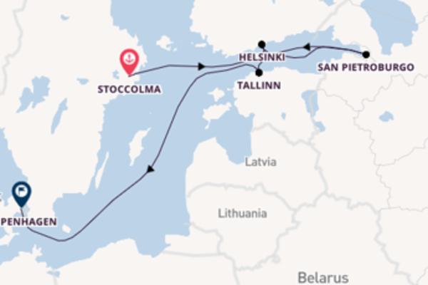 8 giorni di crociera fino a Copenhagen