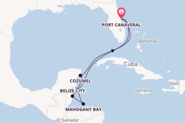 Costa Maya ontdekken met de Carnival Magic