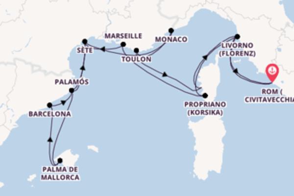 Begeisternde Kreuzfahrt über Palma de Mallorca nach Rom (Civitavecchia)