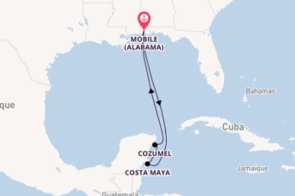Agréable croisière vers Mobile (Alabama) via Costa Maya