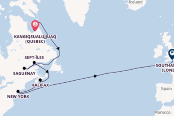 Bewonder Kangiqsualujjuaq (Quebec), Saguenay en Southampton (Londen)