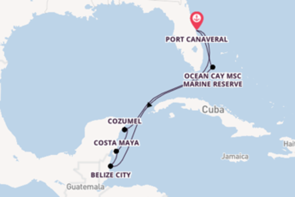 Sailing from Port Canaveral via Belize City