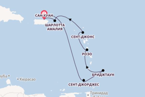 Восхитительное путешествие на 8 дней с Royal Caribbean