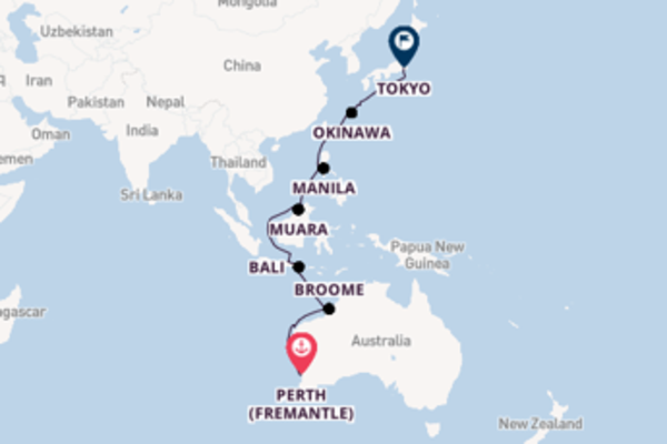 Voyage with Oceania Cruises from Perth (Fremantle)