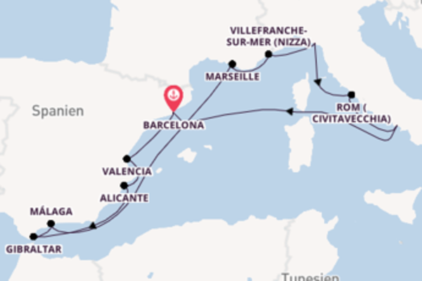 In 13 Tagen nach Barcelona