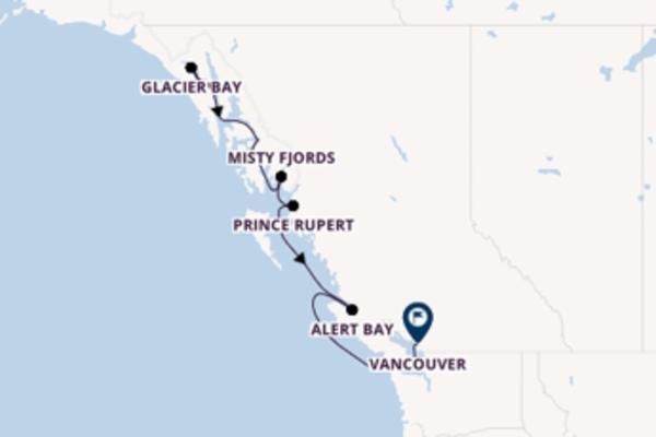 Fantastische Kreuzfahrt über Misty Fjords nach Vancouver