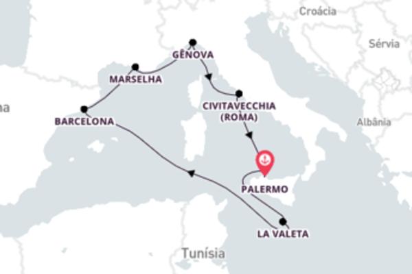 Navegue a bordo do MSC Grandiosa em 8 dias