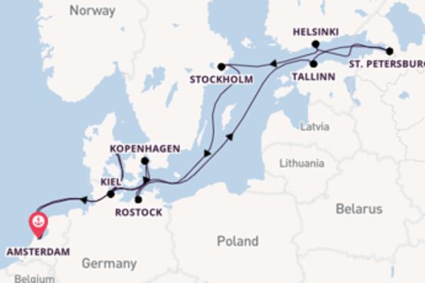 Cruise in 15 dagen naar de juwelen van de Oostzee