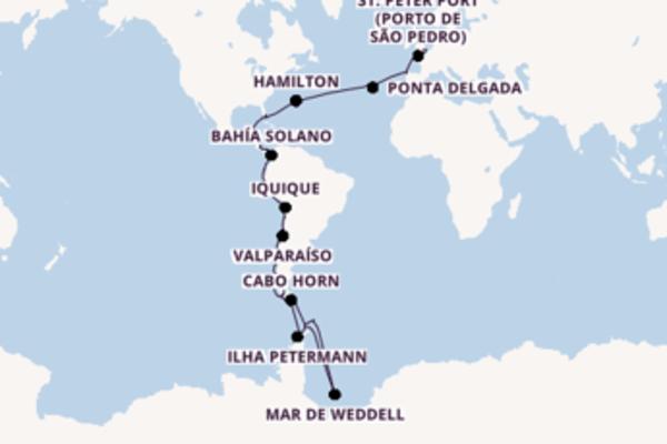 A bordo do SeaDream Innovation em um cruzeiro de 70 dias