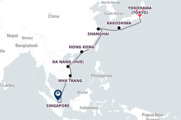 Memorable Singapore from Yokohama with Princess Cruises