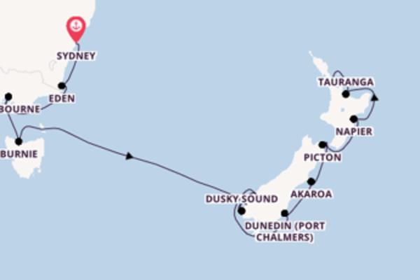 13 day journey from Sydney to Auckland