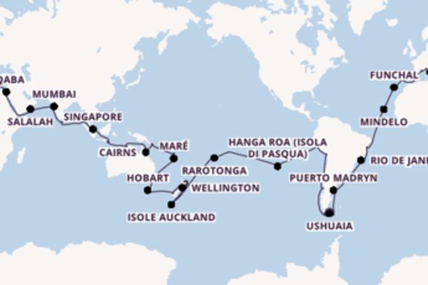 Fare rotta verso Funchal, Madeira a bordo di MSC Poesia