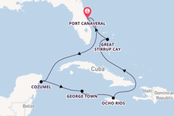 Sailing from Port Canaveral via George Town