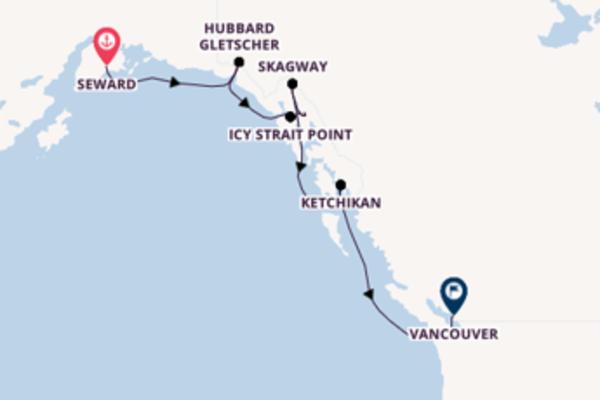 Begeisternde Kreuzfahrt über Icy Strait Point ab Seward