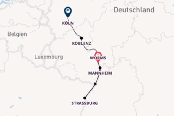 Herrliche Reise über Straßburg in 4 Tagen