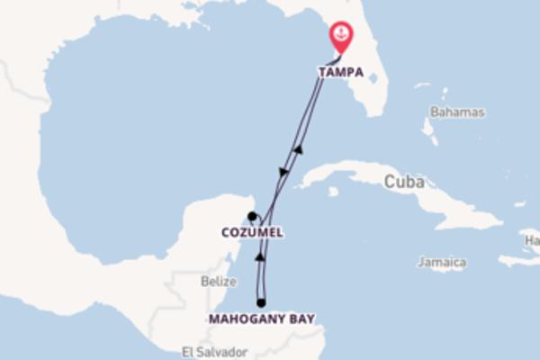 Geniet van het pittoreske Cozumel met Carnival Cruise Line