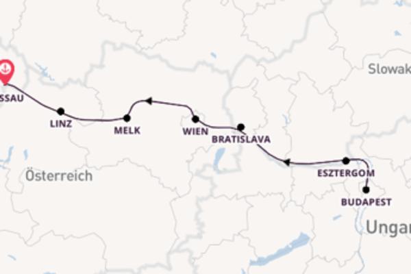 In 8 Tagen nach Passau über Budapest