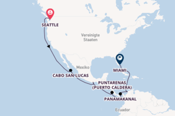 Begeisternde Kreuzfahrt über Huatulco nach Miami