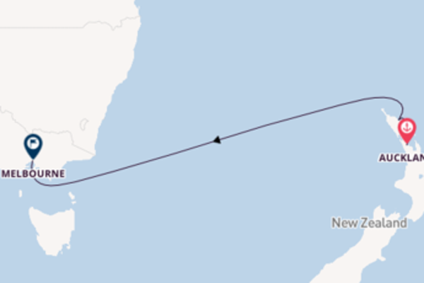 6 day cruise from Auckland to Melbourne