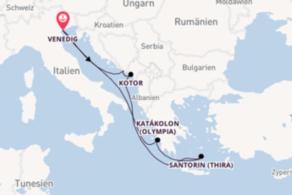 8-tägige Kreuzfahrt bis Venedig