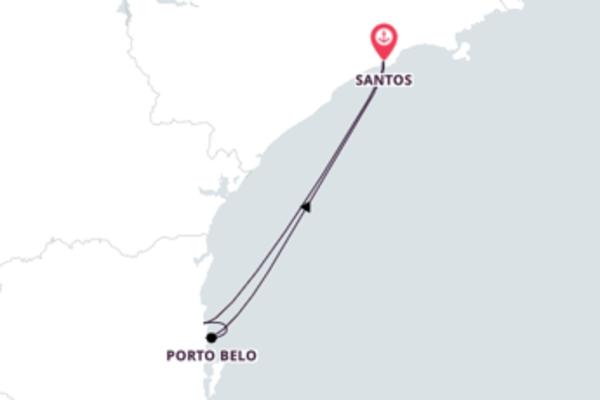 Jornada de 4 dias até Santos com o Costa Fascinosa