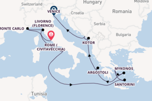 12 day cruise with the Norwegian Dawn to Venice