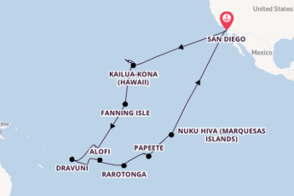 Trip with Holland America Line  from San Diego
