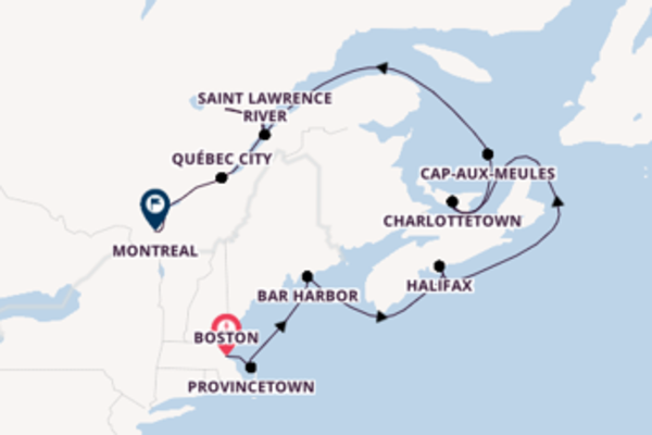 Trip with the Seabourn Quest to Montreal from Boston
