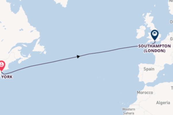 Sailing with Cunard from New York to Southampton