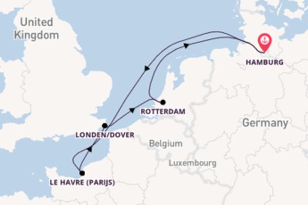 Maak een droomcruise naar Le Havre (Parijs)