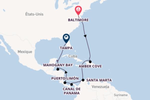 Belle croisière vers Tampa via Grand Turk
