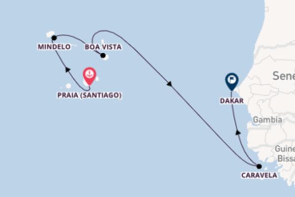 Cruise in 9 dagen naar Dakar met Ponant