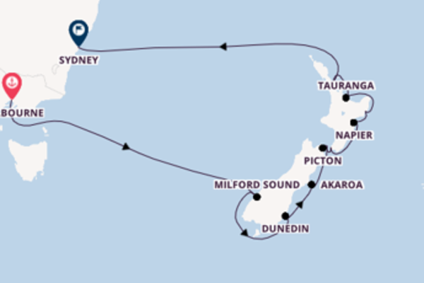 Wundervolle Kreuzfahrt über Auckland ab Melbourne