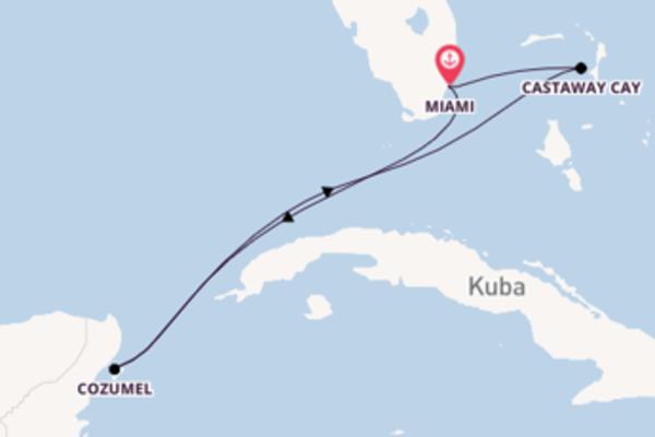6 Tage westliche Karibik – ab/bis Miami