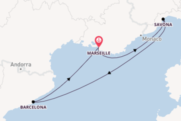 Geniet van een 5-daagse cruise naar Marseille