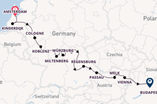 Journey with Viking River Cruises from Amsterdam