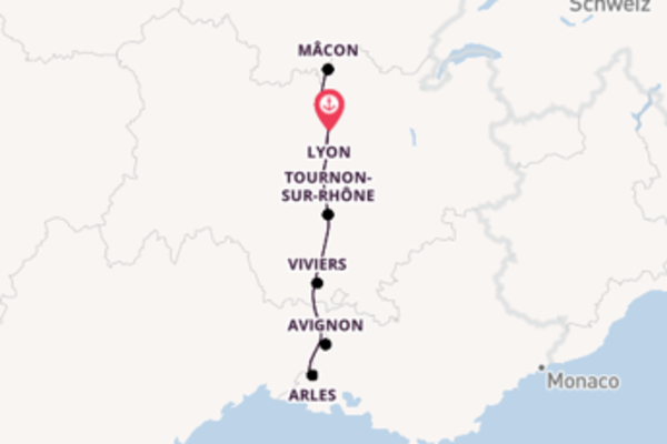 Einzigartige Kreuzfahrt über Lyon, Frankreich ab Lyon, Frankreich