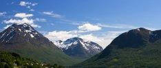 Fjordküste Norwegens entlang der Hurtigrute