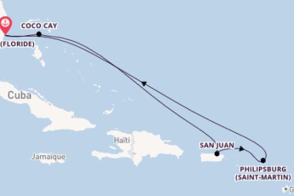 Croisière de 8 jours depuis Miami (Floride) avec Royal Caribbean