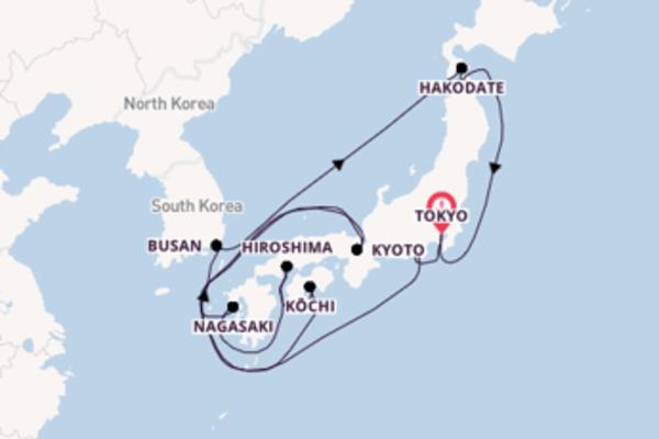 15 giorni di crociera da Tokyo