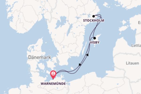 Genießen Sie 5 Tage Stockholm und Warnemünde