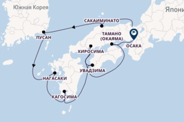 Майдзуру - Осака с Ponant