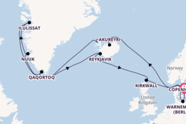 22 day cruise with the MSC Musica to Copenhagen