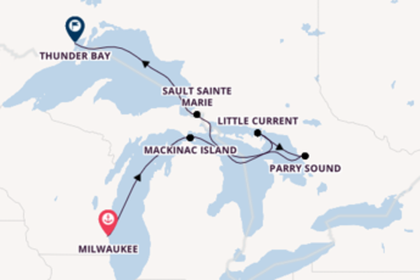 8 day cruise with the Viking Octantis to Thunder Bay
