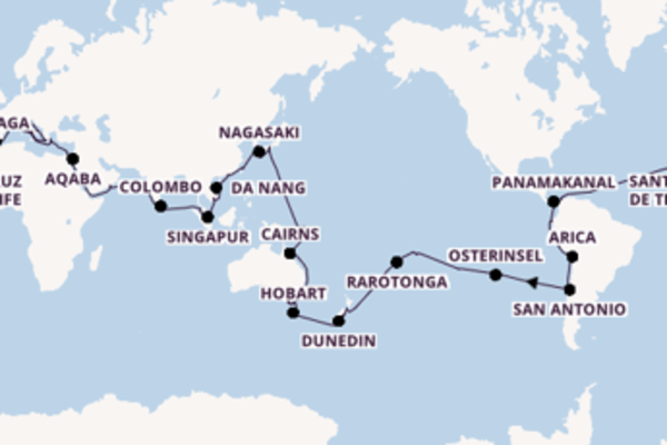 Erkunden Sie Barcelona, Cartagena und Venedig