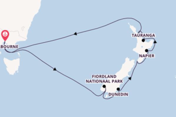 Geniet van een 14-daagse cruise naar Melbourne