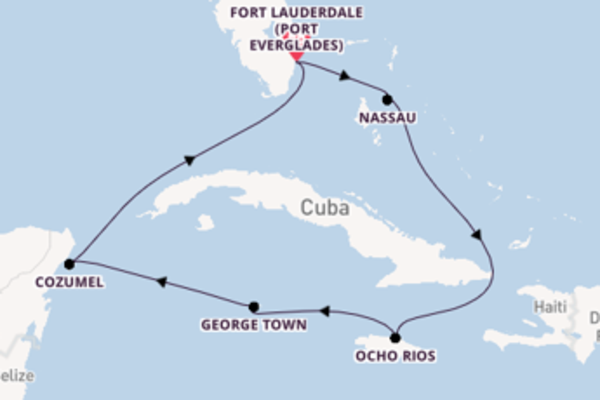 8 day journey on board the Celebrity Reflection from Fort Lauderdale (Port Everglades)