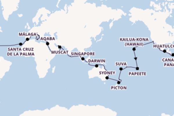 Crociera di 112 giorni a bordo di Island Princess